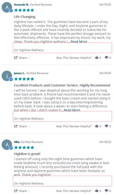 highline wellness CBD reviews